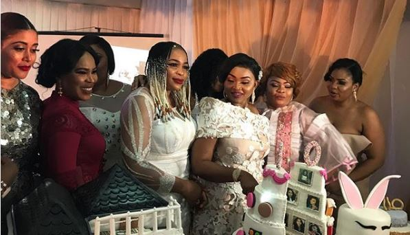 Checkout Nollywood Celebs how They Slayed at Mercy Aigbe's Birthday